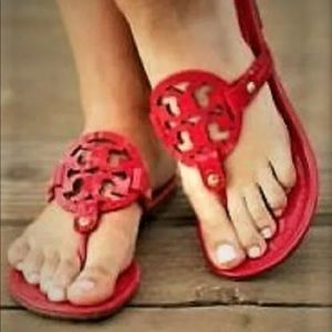 TORY BURCH MILLER RED SANDALS 8 M